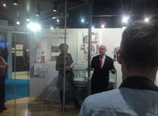 MP Albert Owen opening the exhibition at Ynys Mon.