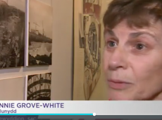 Screen-shot, S4C, Annie Grove-White, Ynys Mon, Opening.